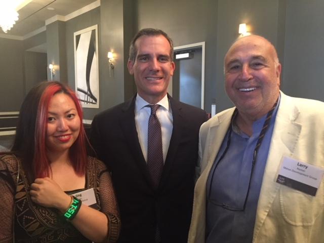 With Mayor Garcetti