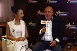 Being interviewed during shanghai film festival