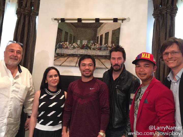 With Keanu and Manny