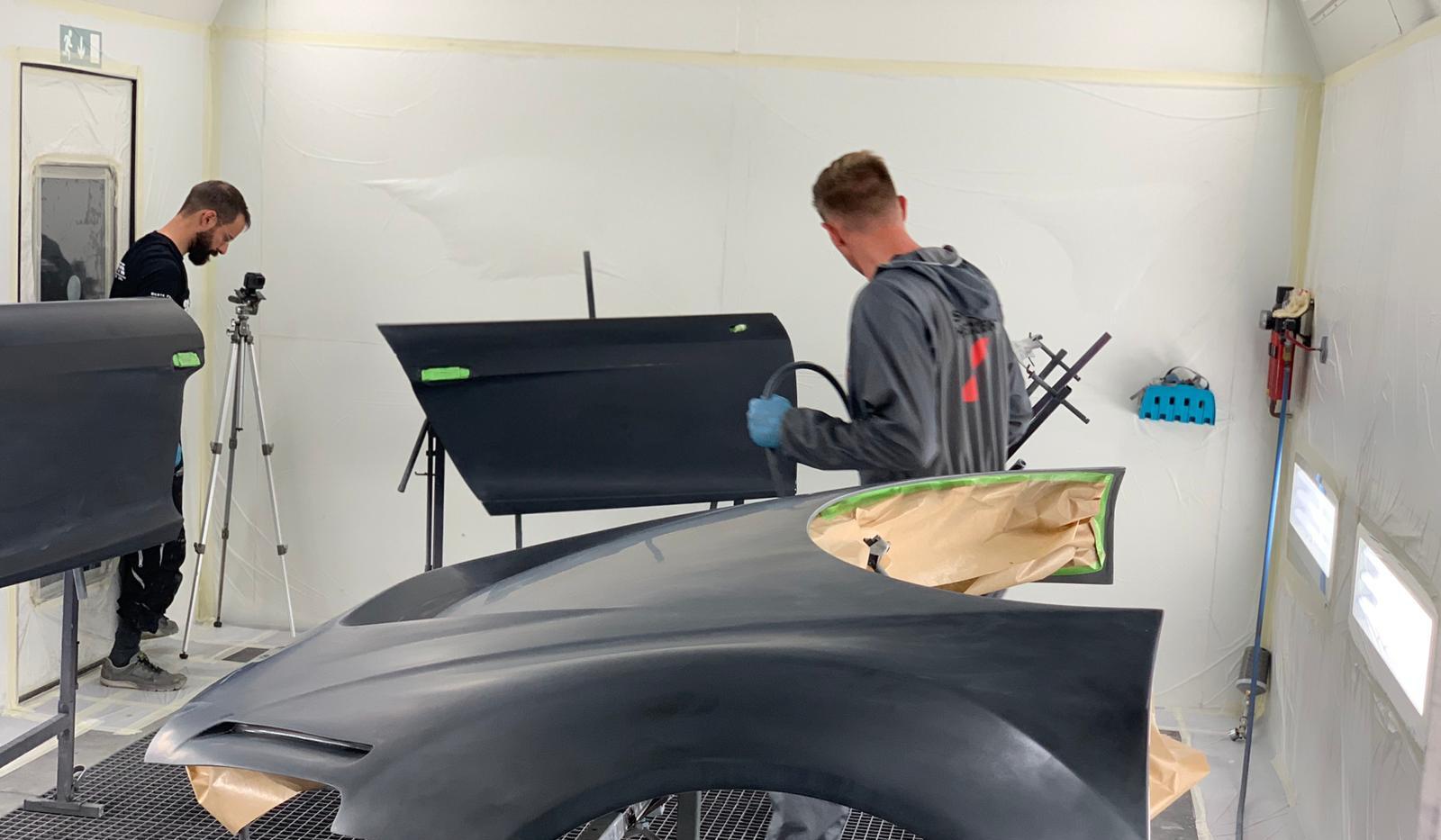 Lackierarbeiten Karosserie R8 Umbau