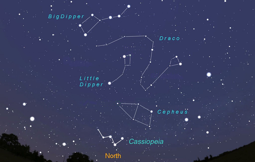 Sky map of constellations