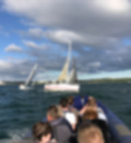 RCYC Royal Cork Yacht Club yachts out racingduringCork Week. 2020 marks 300 years since the RCYC was first established in 1720.