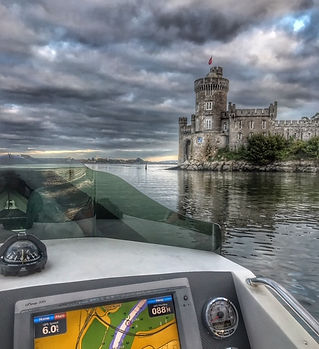 Our boats passing Blackrock Castle in Cork Harbour during our City Seafari