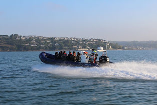 Fast RIB, Cork Harbour Boat Hire, Staff Party, Cork Sea Safari, Cork, Irelands Ancient East, Roches Point, Crosshaven, Dolphins, Whales, Speed, Staff day out, Sports and social club, activity, covid friendly, outside, air