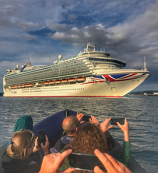 The Port of Cork welcomes over 100 cruise linersin 2020 making it one of the busiest years yet, jump on bord one of our boats and get up close with one of these huge ships