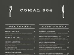 current menu