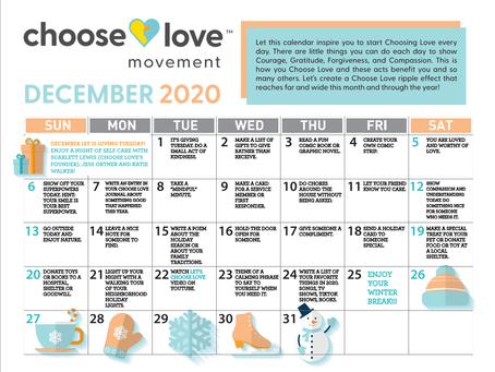 Choose Love Calendar for December