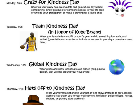 Great Kindness Challenge Spirit Week