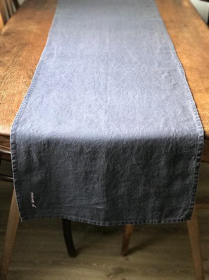 Table runner Dark Grey 100% Linen