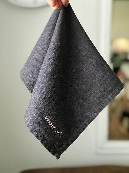 Napkin Dark Grey 100% Linen