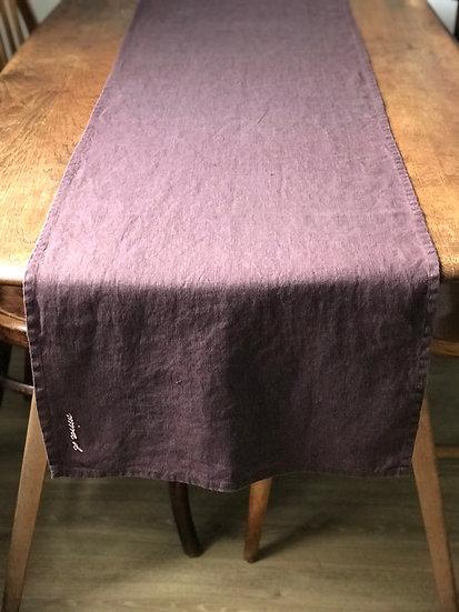 Table runner Mauve 100% Linen