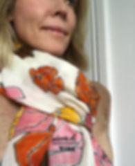 Floral70 Cashmere scarf for VIDA