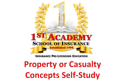 PROPERTY or CASUALTY CONCEPTS SELF-STUDY