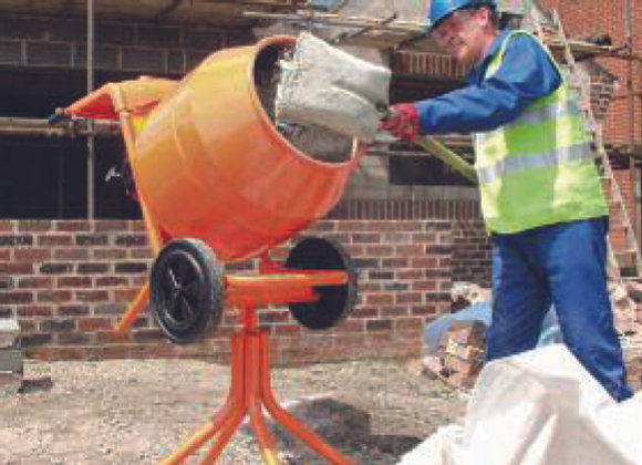 CEMENT MIXER & STAND (PETROL)
