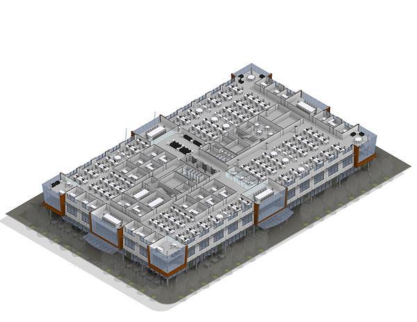 J18000 S2R Office Building 3d spaceplan