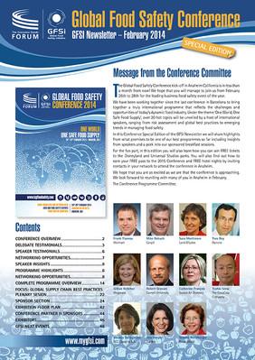 GFSI 2014 Newsletter février