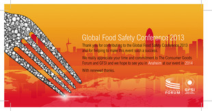 GFSI 2013 Global Food Safety Conference