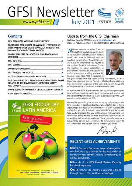 GFSI 2011 Newsletter juillet