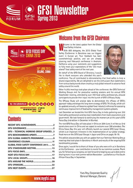 GFSI 2013 Newsletter printemps