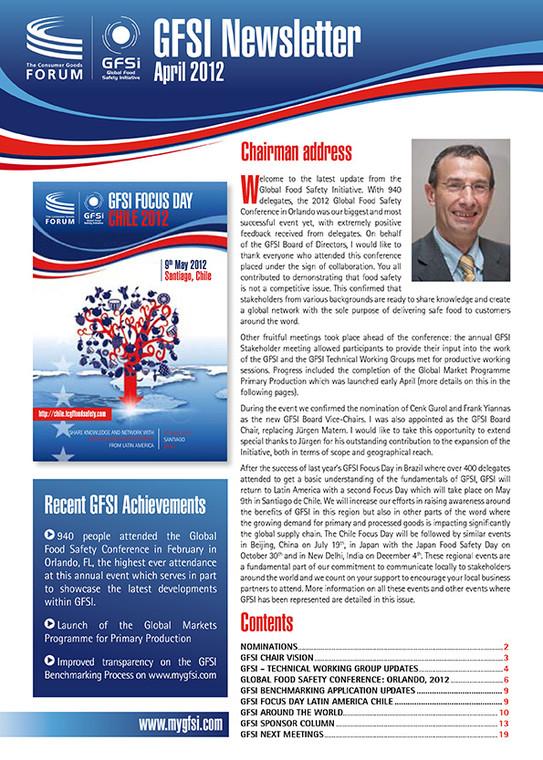 GFSI 2012 Newsletter avril