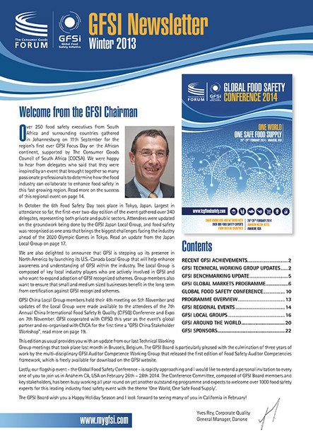 GFSI 2013 Newsletter hiver