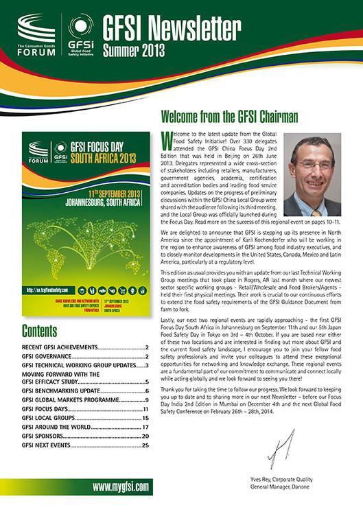 GFSI 2013 Newsletter été