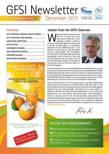 GFSI 2011 Newsletter décembre