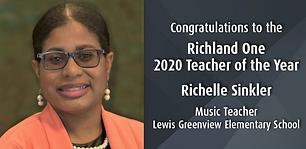 Richelle Sinkler- Richland One Teacher o