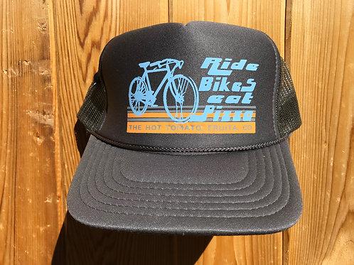 Ride Bikes Eat Pizza - Gray Hat