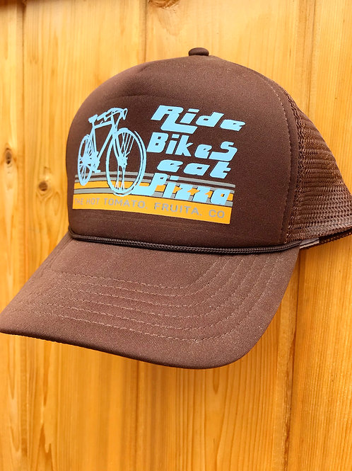 Ride Bikes Eat Pizza - Brown Hat