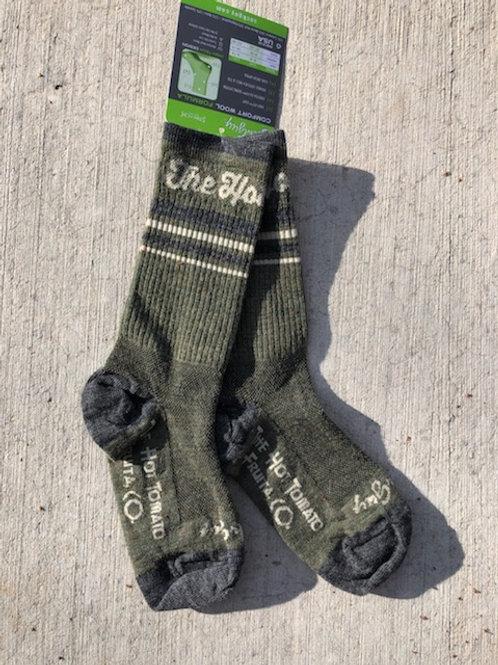 The Hot Tomato Socks - Olive