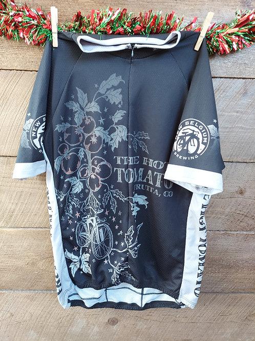 Men's Tomato Vine Bike Jersey - Black/White