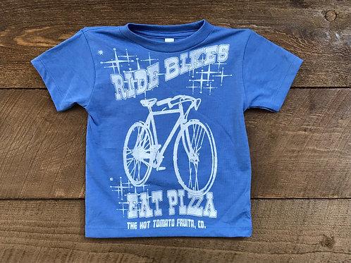 Kids Ride Bikes T-Shirt - Blue