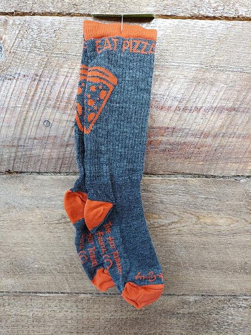 Wool Slice Sock - Orange/Grey