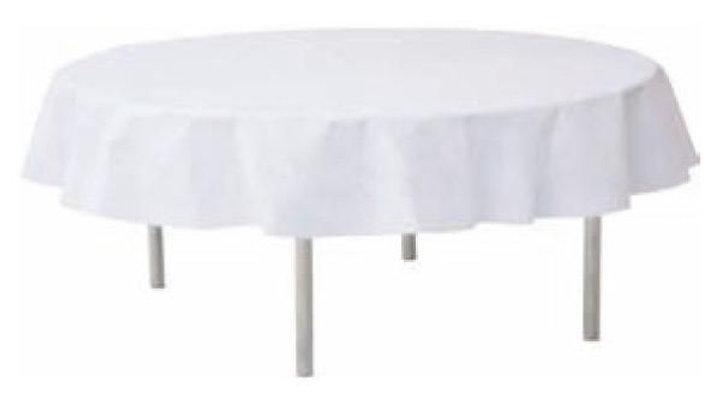 Tischdecke weiß rund