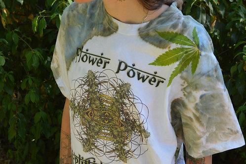 Flower Power OOAK IceDye Plant Press Medium