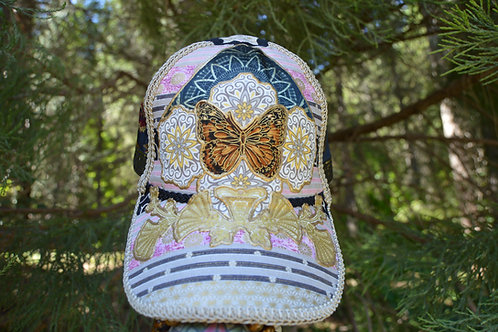 Butterfly Crown Dad Cap   One of a Kind