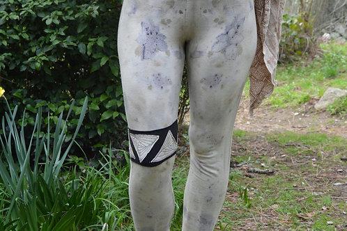 One of a Kind Herbal Dyed Eco-Printed Leggings Medium