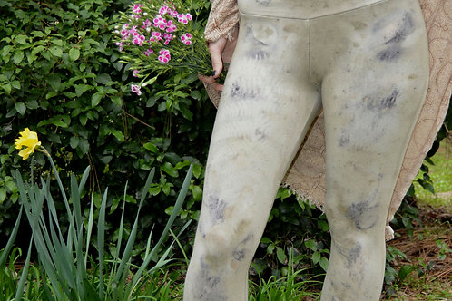 One of a Kind Eco Print Plant Dyed Leggings XS