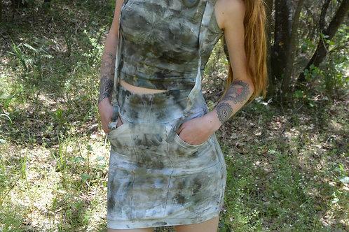 Ganja Goddess Pocket Skirt OOAK XS/S Bamboo/Hemp