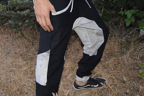 Gold Country Forage Eco Print Joggers | OOAK