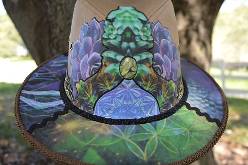 Psychedelic Succulent   One of a Kind
