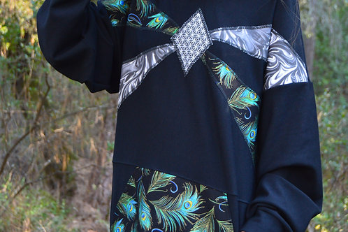 Feather Flow-er | One of a Kind Hoodie | Medium