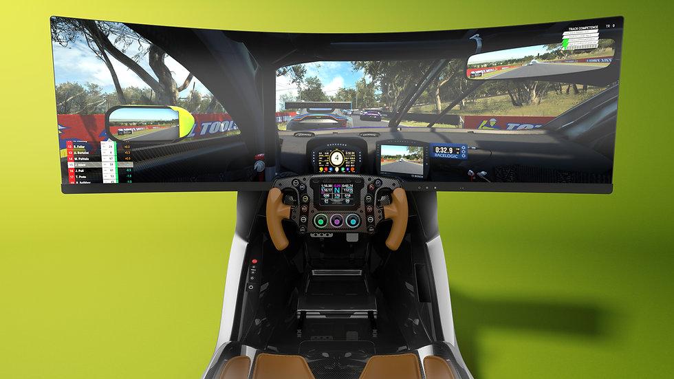Ultra Wide Screen Driving Simulator