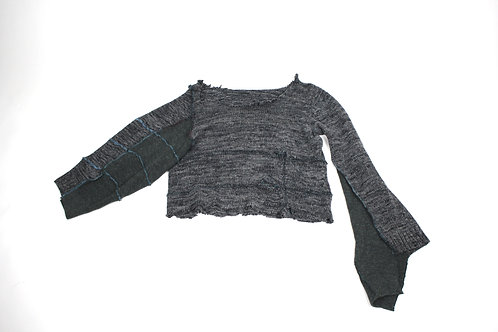 Oversized upserged sweater