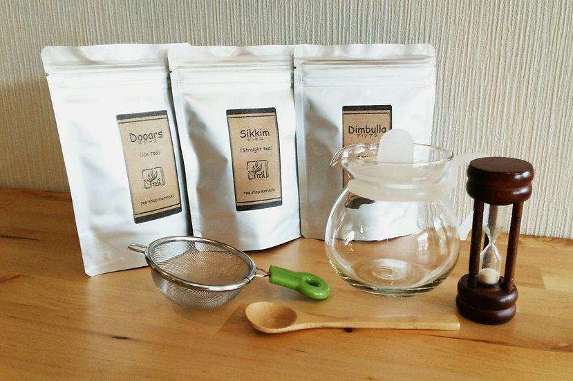 【紅茶スタータセット&茶葉3種】