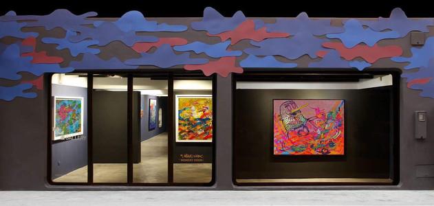 vitrine de la galerie