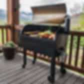 traeger grill outside with food.jpg