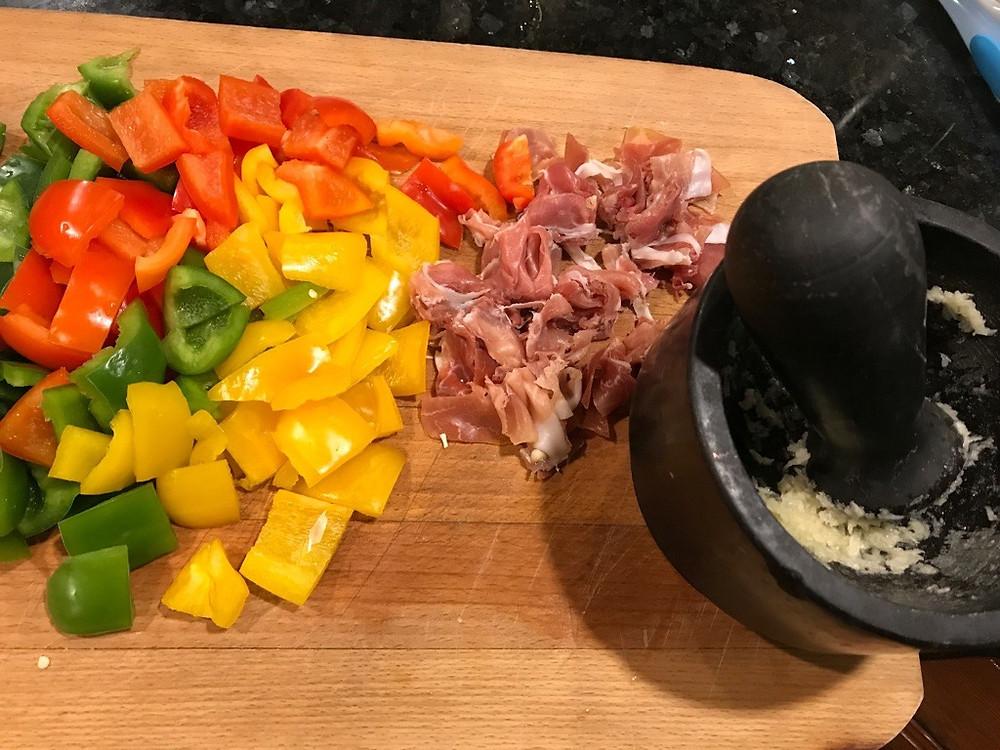 Preparing for Roman Style Chicken