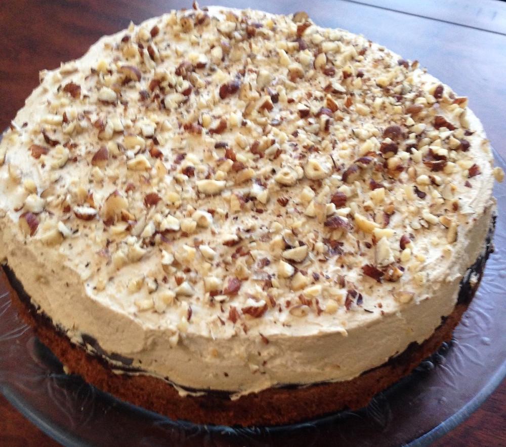 Hazelnut Cake with Espresso Cream and Chocolate